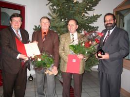 Franz Prell und Richard Frey werden für 40jährige Mitgliedschaft geehrt